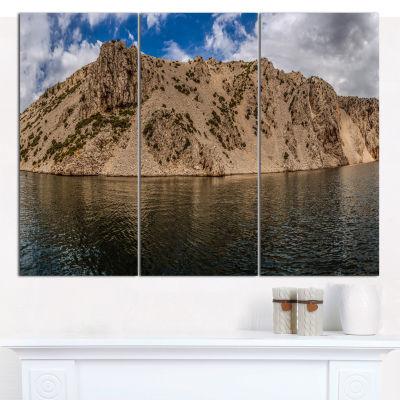 Designart Zrmanja River Northern Dalmatia Landscape Wall Art Canvas - 3 Panels