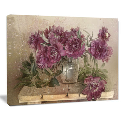 Designart Bouquet Of Pink Peonies Floral Art Canvas Print