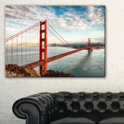 Designart Golden Gate Bridge In San Francisco SeaBridge (PT10035) Canvas Art Print