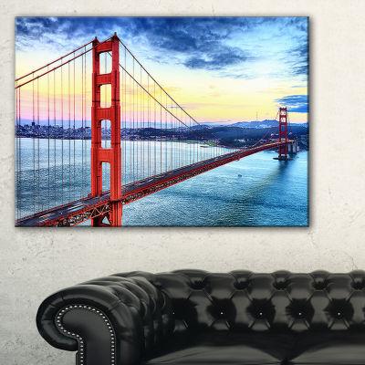 Designart Golden Gate Bridge In San Francisco SeaBridge Canvas Art Print