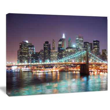 Design Art New York City Manhattan Skyscrapers Cityscape Canvas Print