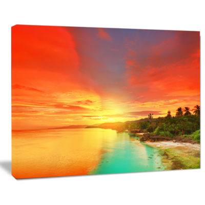 Designart Beautiful Coastline In Philippines Seascape Art Canvas