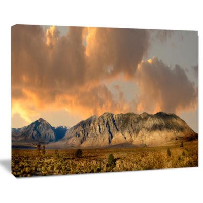 Design Art Sierra Nevada Mountain Landscape Canvas Art Print