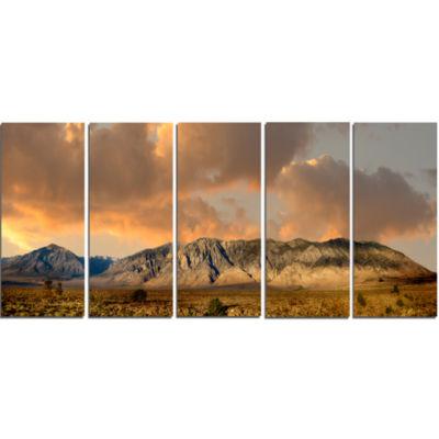 Designart Sierra Nevada Mountain Landscape CanvasArt Print - 5 Panels