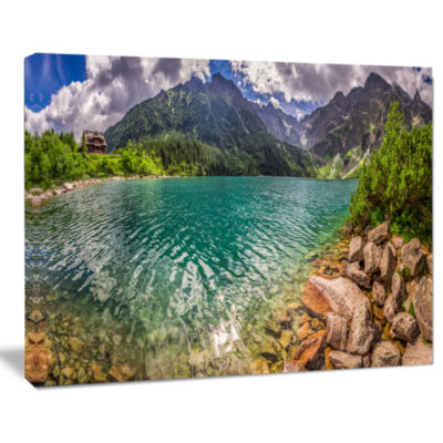 Designart Lake In Tatra Mountains Poland SeashoreCanvas Art