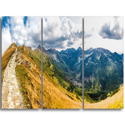Designart Low Tatras Hike Panorama Landscape Canvas Art Print - 3 Panels
