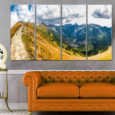 Designart Low Tatras Hike Panorama Landscape Canvas Art Print - 4 Panels