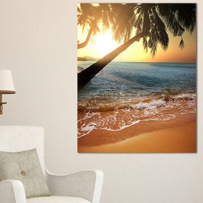 Designart Beautiful Sunset On Tropical Beach Seashore Canvas Print