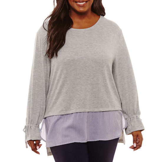 Derek Heart Long Sleeve Layered Top Juniors
