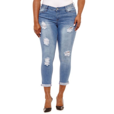 """Hydraulic 28"""" Destructed Ankle Skinny-Juniors Plus"""