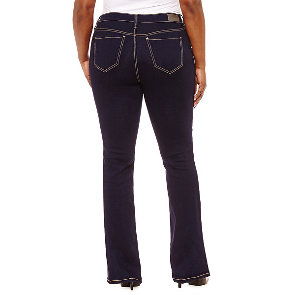 Hydraulic Curvy Fit Bootcut Jeans-Juniors Plus