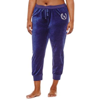 Flirtitude Fleece Jogger Pants-Juniors Plus