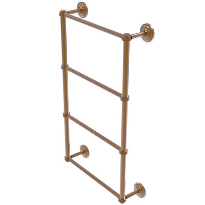 Allied Brass Que New Collection 4 Tier 24 Inch Ladder Towel Bar With Dotted Detail