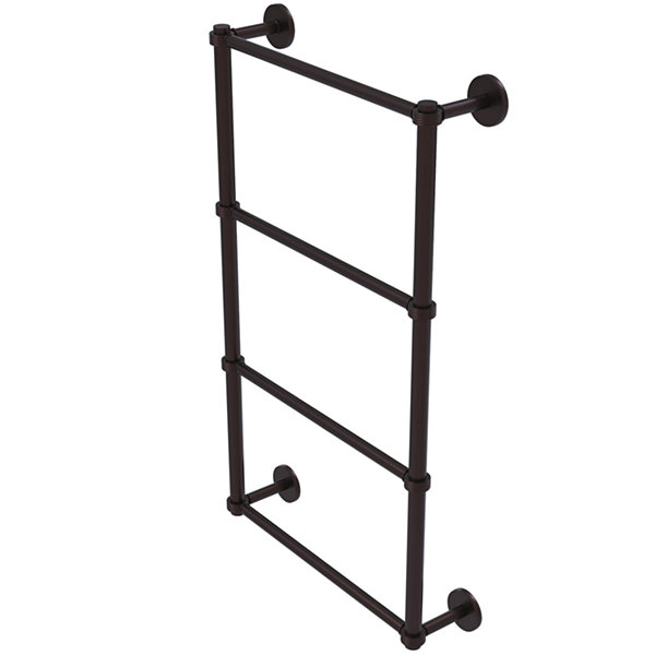 Allied Brass Prestige Skyline Collection 4 Tier 24Inch Ladder Towel Bar with Groovy Detail