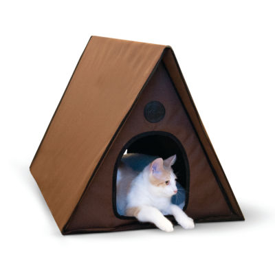 "K & H Manufacturing Outdoor Multiple Kitty A-Frame heated, 35"" x 20.5"" x 20"""