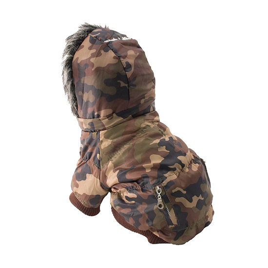 The Pet Life Metallic Fashion Pet Parka Coat