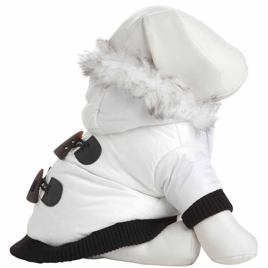 The Pet Life Aspen Winter-White Fashion Pet Parka Coat