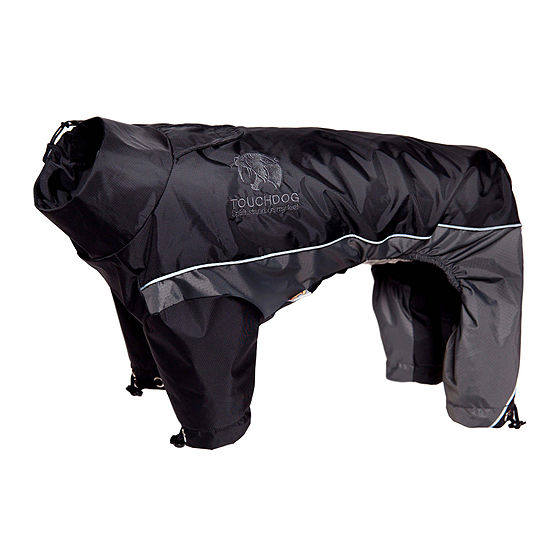The Pet Life Touchdog Quantum-Ice Full-Bodied Adjustable and 3M Reflective Dog Jacket w/ BlacksharkTechnology