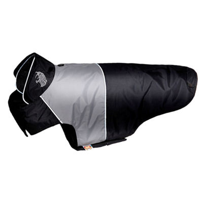 The Pet Life Touchdog Lightening-Shield Waterproof 2-in-1 Convertible Dog Jacket w/ Blackshark technology