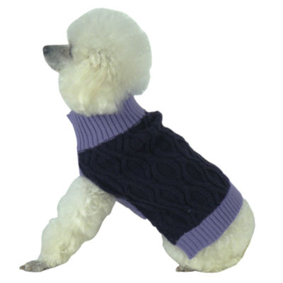 The Pet Life Oval Weaved Heavy Knitted Fashion Designer Dog Sweater