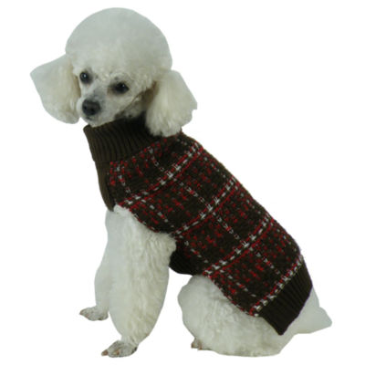 The Pet Life Vintage Symphony Static Fashion Knitted Dog Sweater