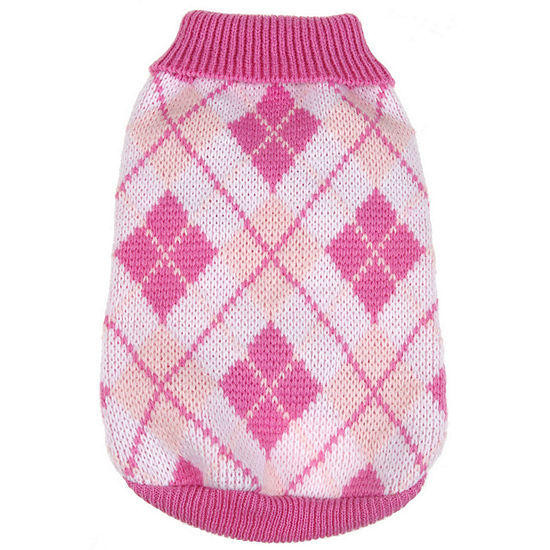 The Pet Life Argyle Style Ribbed Fashion Pet Sweater