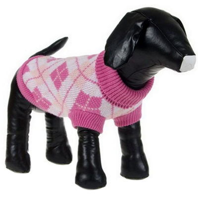 The Pet Life Argyle Style Ribbed Fashion Pet Sweater