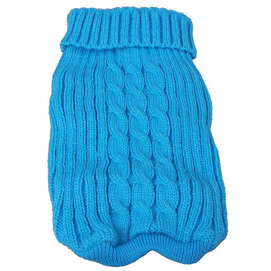 The Pet Life Heavy Cotton Rib-Collared Pet Sweater
