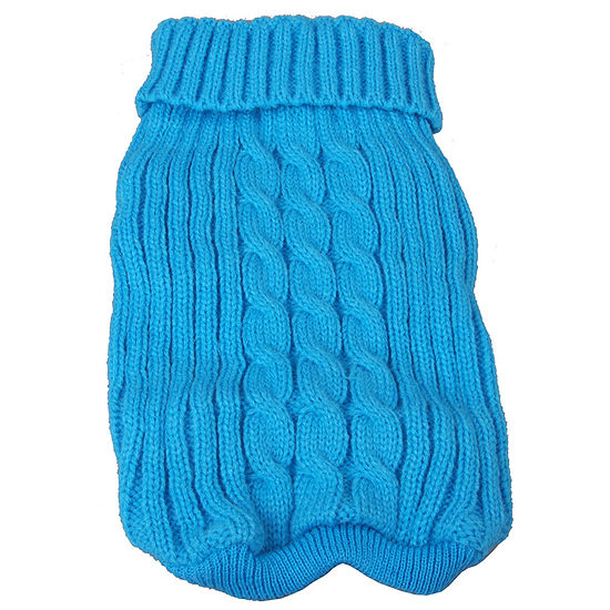The Pet Life Heavy Cotton Rib-Collared Pet Sweater