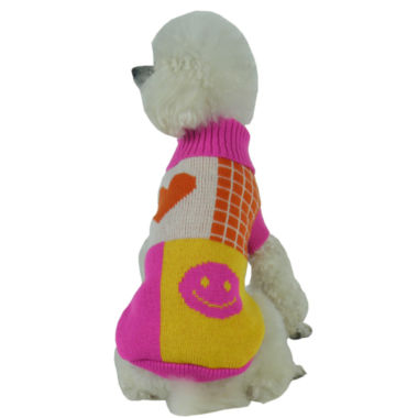 The Pet Life Lovable-Bark Heavy Knit Ribbed Fashion Pet Sweater