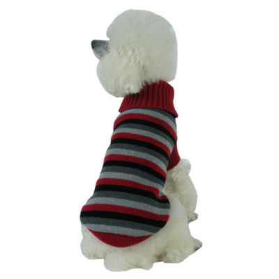 The Pet Life Polo-Casual Lounge Cable Knit Designer Turtle Neck Dog Sweater