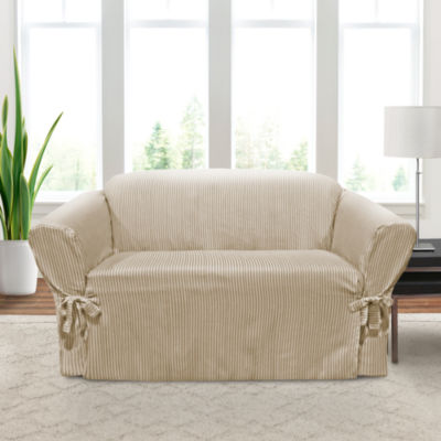 Monroe 1-Piece Relaxed Fit Loveseat Slipcover