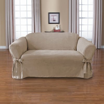 Sienna 1-Piece Relaxed Fit  Loveseat Slipcover