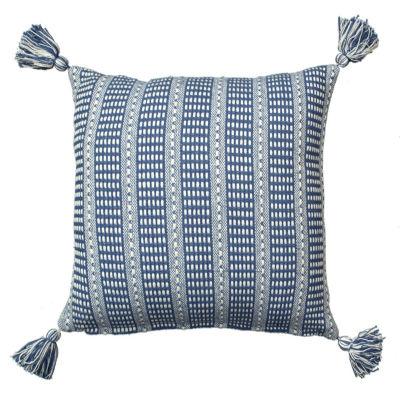 Dropstitch Throw Pillow with Tassles