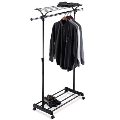 Neu Home Adjustable Garment Rack w/ Shelf