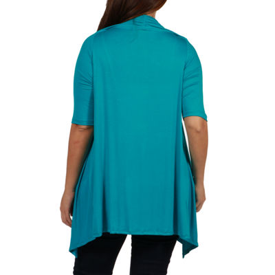 24/7 Comfort Apparel Superstar Cardigan Shrug - Plus