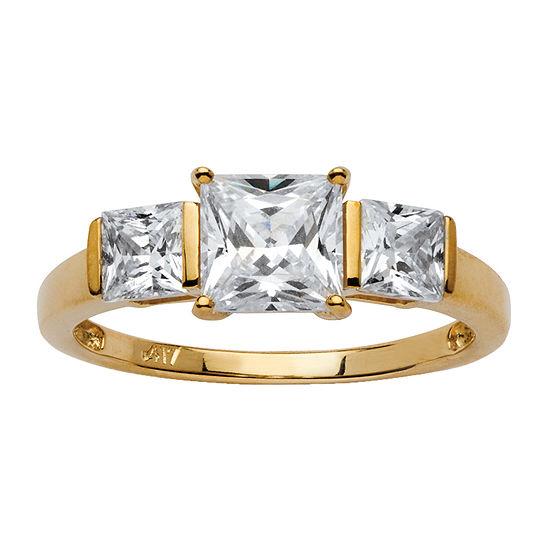 Diamonart Womens 2 Ct Tw White Cubic Zirconia 10k Gold Engagement Ring