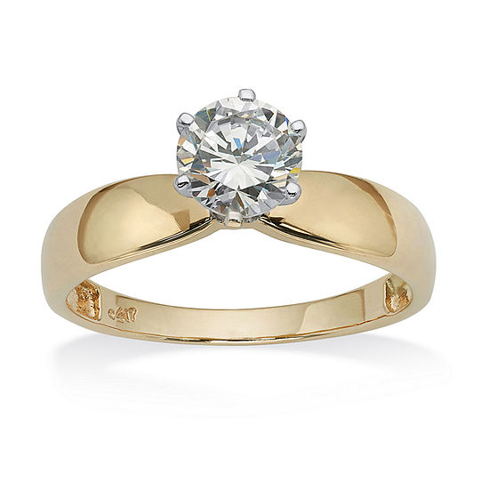 Diamonart Womens 1 1/4 CT. T.W. White Cubic Zirconia 10K Gold Engagement Ring