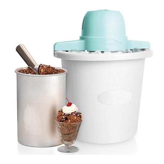 Nostalgia Icmp4wh 4 Qt White Bucket Electric Ice Cream Maker