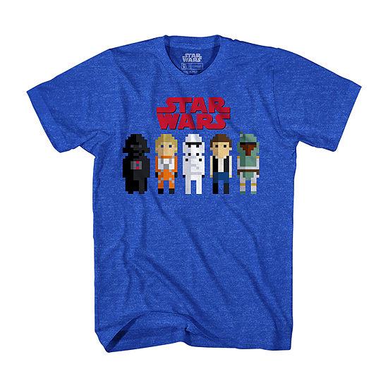 Boys Crew Neck Short Sleeve Star Wars Graphic T-Shirt Preschool / Big Kid