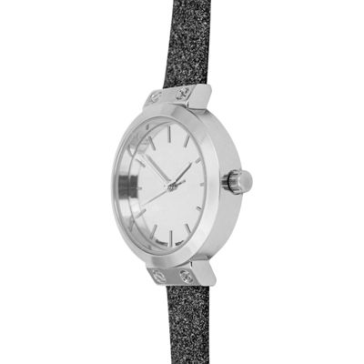 Mixit Womens Black Strap Watch-Pt5268slbk