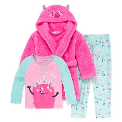 Bunz Kidz 3-pc. Pajama Set Girls