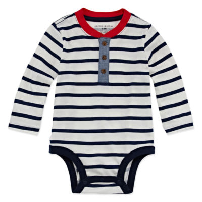 Peyton & Parker Happy Stripe Bodysuit - Baby Boys