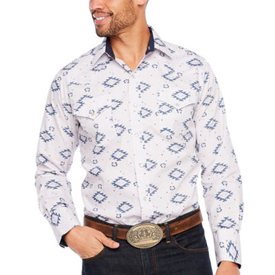Ely Cattleman Cotton Aztec Print LS Shirt