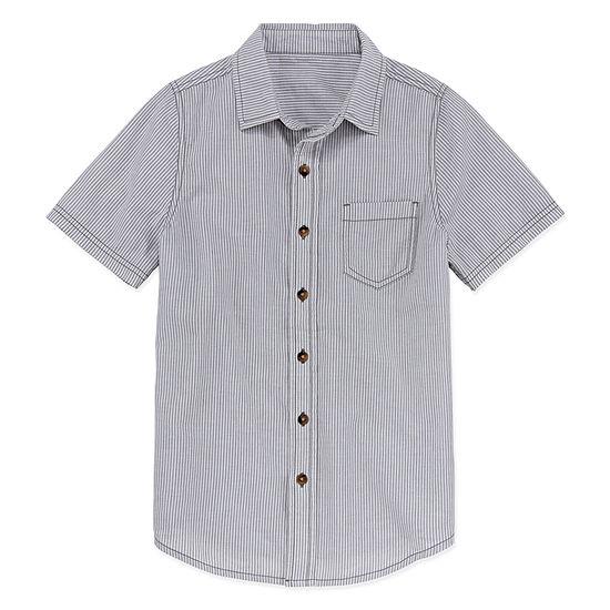 Arizona Boys Short Sleeve Button Front Shirt