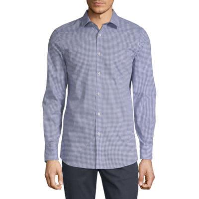 Axist Long Sleeve Geometric Button-Front Shirt