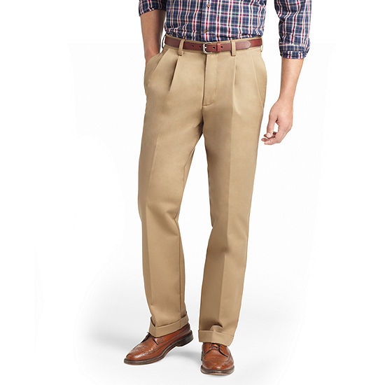 IZOD American Chino Classic Fit Pleated Pant