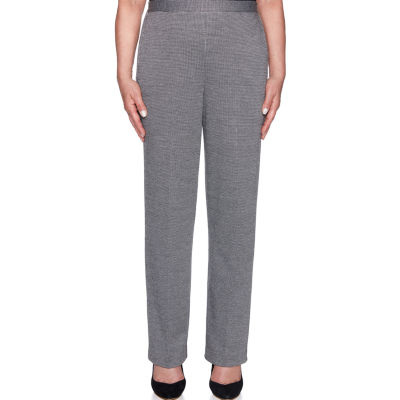 Alfred Dunner Sutton Place Womens High Waisted Flat Front Pant