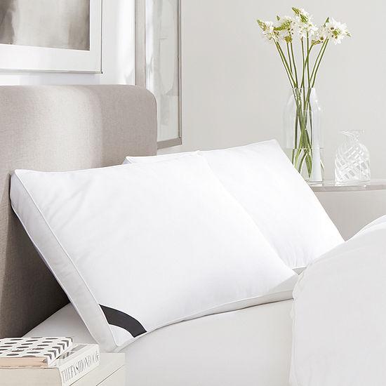 Queen Street Elite 300 Thread Count Cotton Sateen Allergen Barrier Down Alternative Firm Density Pillow