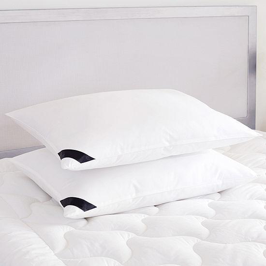 Queen Street Elegance 233 Thread Count Cotton Allergen Barrier Down Alternative Medium Density Pillow 2-Pack